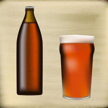 Bottled Beer Background