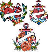 Navy horgony tetoválás