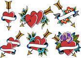 Fotografia tatuaggio cuore depoca classica