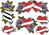 Fotografia tatuaggio cuore e Rose