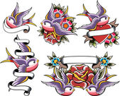 Fecske tetoválás tervezés