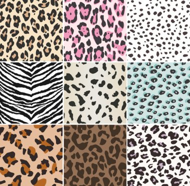 Repeated animal skin texture print