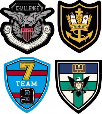 Classic heraldic emblem badge