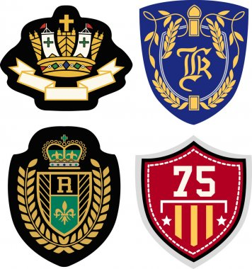 Emblem badge set