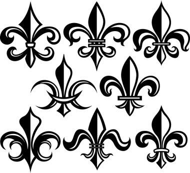 Fleur de lys shield design clip art vector