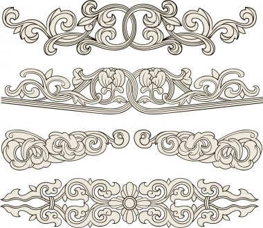 Scroll ornament illustration