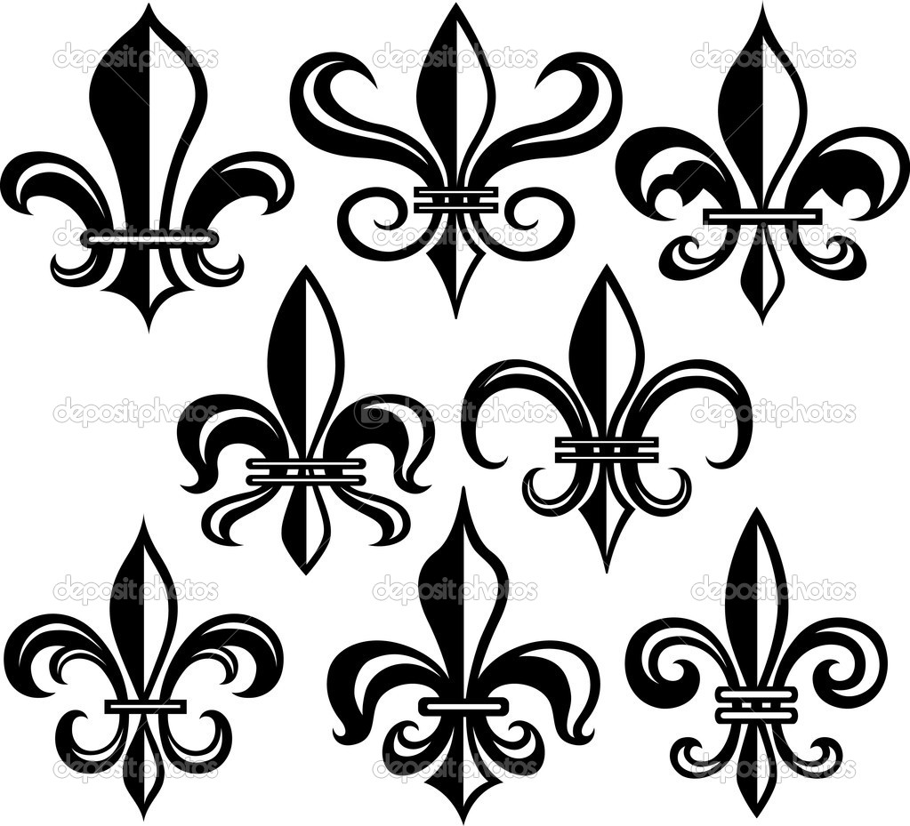 fleur de lys shield design stock vector pauljune 10068208. Black Bedroom Furniture Sets. Home Design Ideas