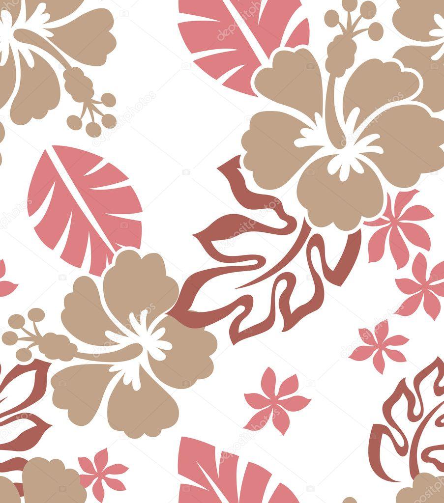 Hibiscus Flower Print Stock Vector Pauljune 10068476