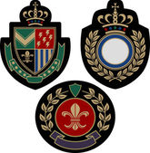 Royal classical emblem shield
