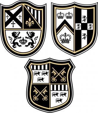 Classic heraldic emblem crest shield