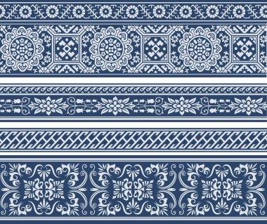 Fashion floral scroll pattern
