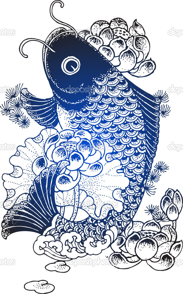 Koi fish illustration stock vector pauljune 10071747 for Koi fish vector