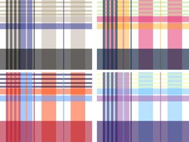 Plaid check fabric print pattern