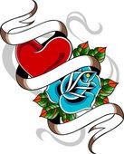 Fotografia emblema del tatuaggio cuore