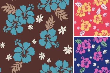 Seamless hibiscus flower textile print