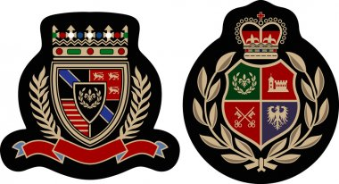 Fashion college emblem shield