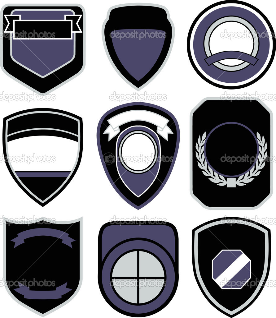 emblem badge shape icon stock vector 169 pauljune 10092623