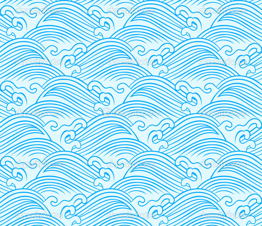 Ocean Wave Pattern Simple Decoration