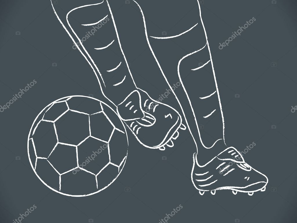 Hand draw soccer player — Stock Vector © Nychytalyuk #9675518