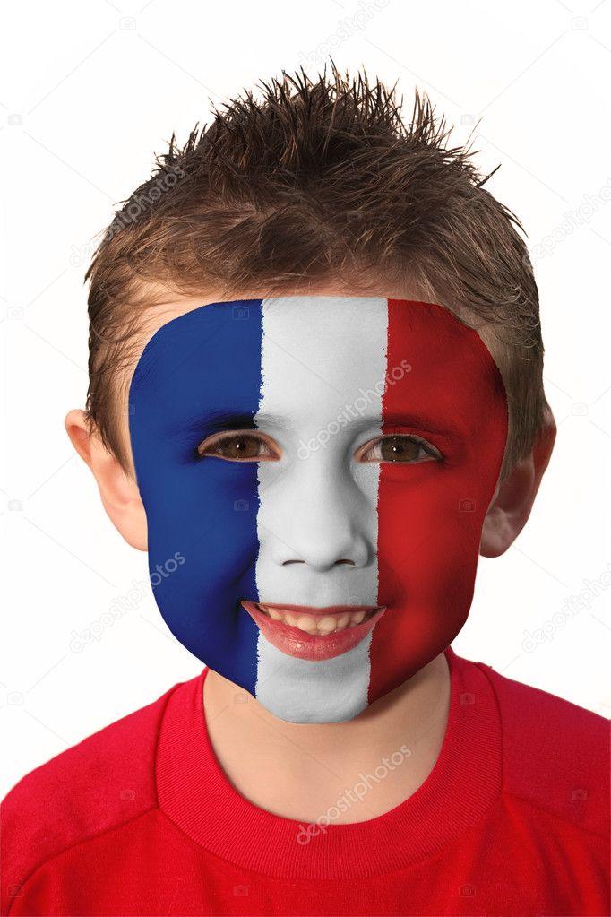 Futbol Yüz Boyama Fransa Stok Foto Andyb1126 9252233