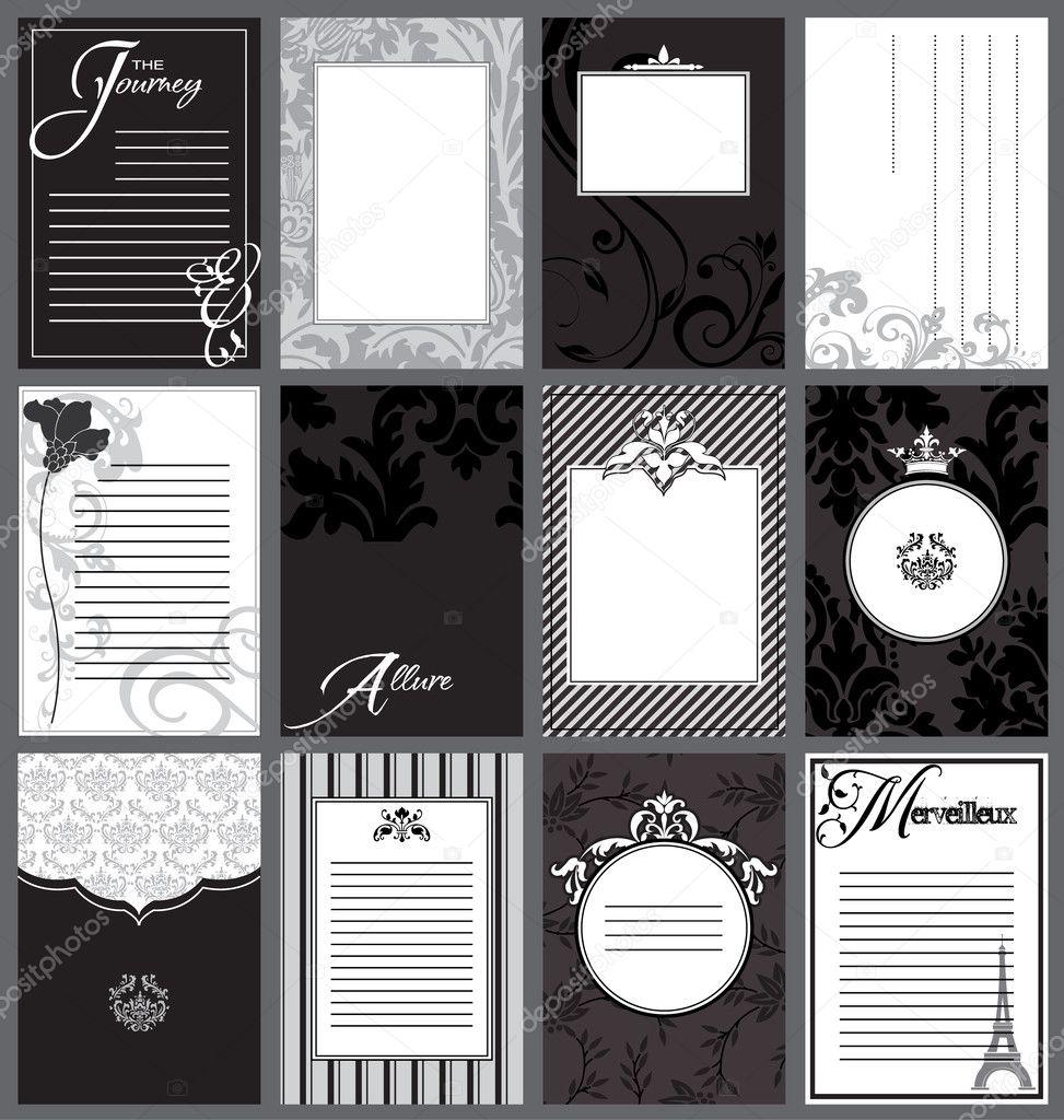 Приглашения на день рождения шаблоны образцы для печати черно белые