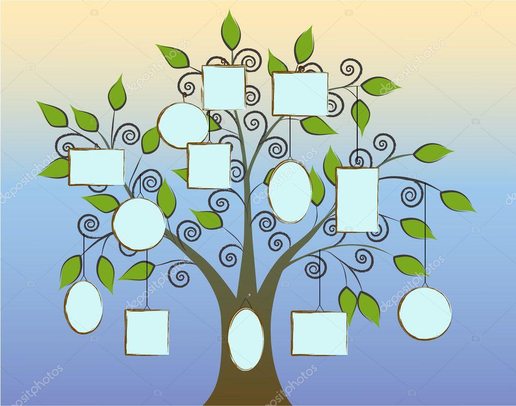 árbol genealógico — Vector de stock © LanaN. #9220525