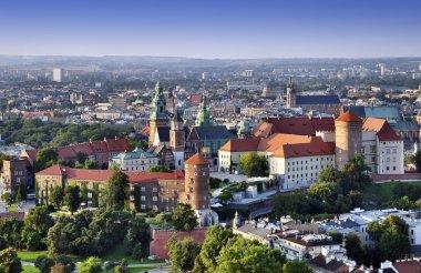 Wawel Castle in Krakow. Aerial view