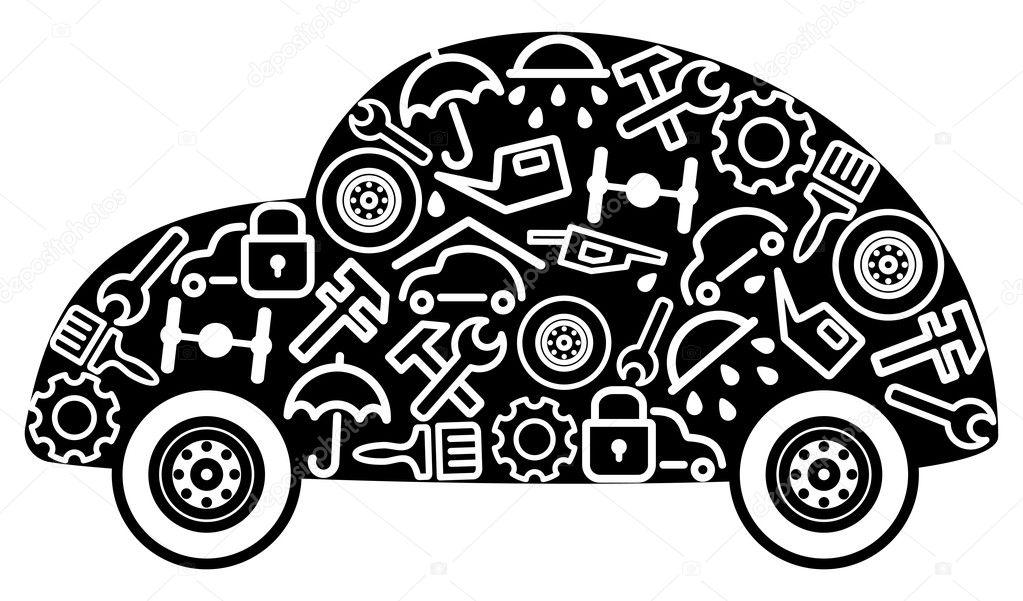 voitures et pi ces d tach es image vectorielle klava 9405885. Black Bedroom Furniture Sets. Home Design Ideas