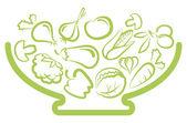 Deska se zeleninou