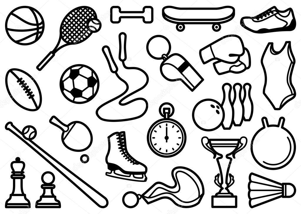 símbolos de deportes — Archivo Imágenes Vectoriales © Klava #9528282