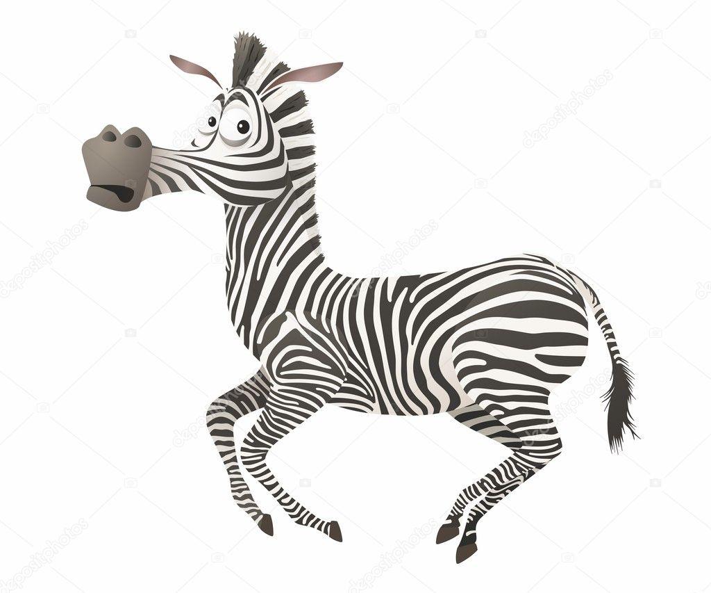 Fumetto vettoriale zebra — vettoriali stock