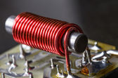 Electrical coil with iron core