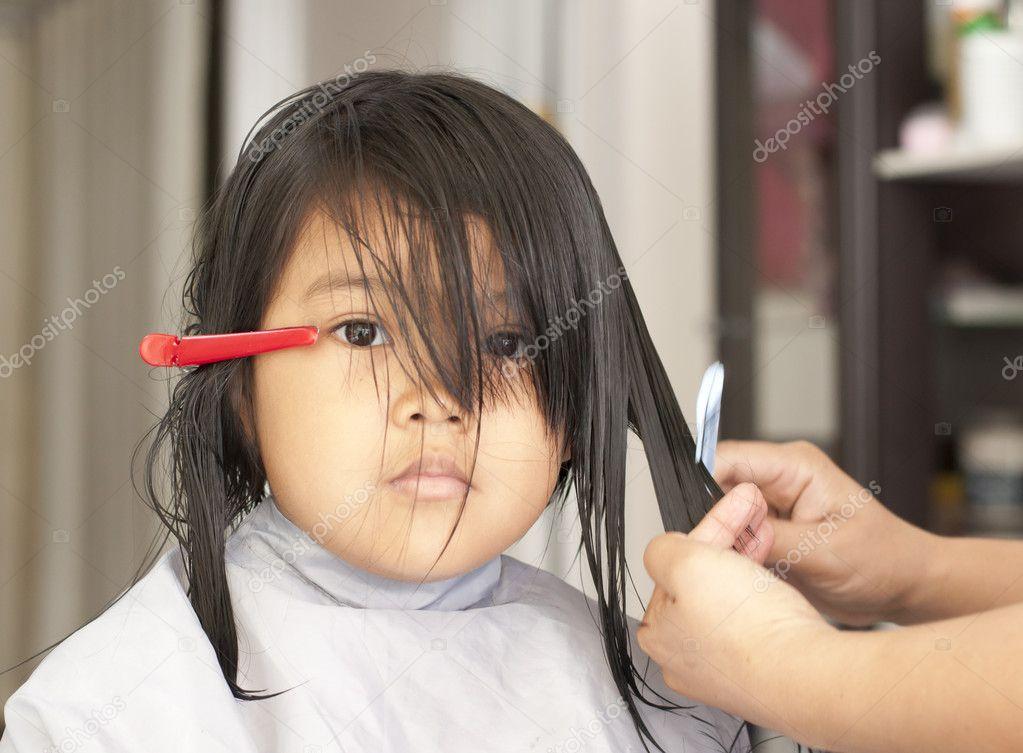 Young Girl Getting A Haircut Stock Photo Supakitmod 10395017