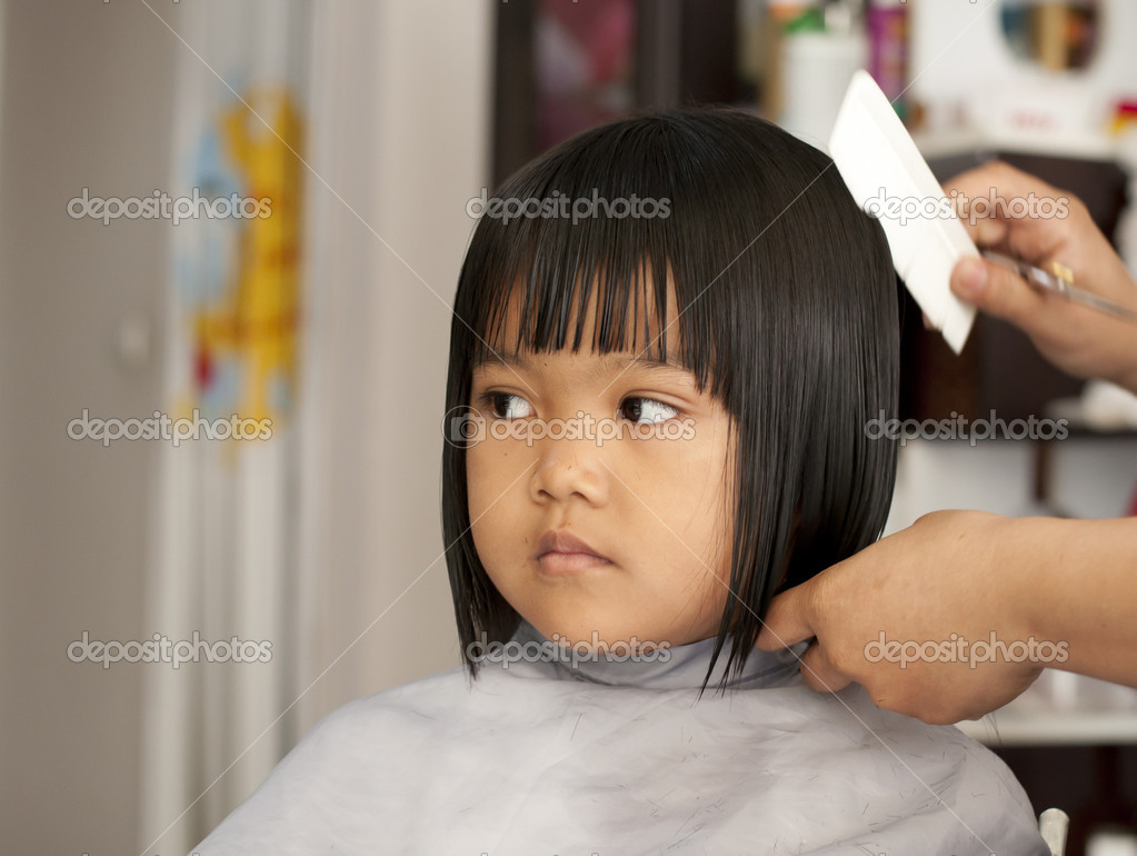 Young Girl Getting A Haircut Stock Photo Supakitmod 10395051
