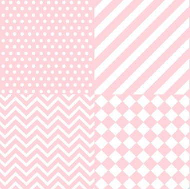 Seamless baby girl pattern, wallpaper clip art vector