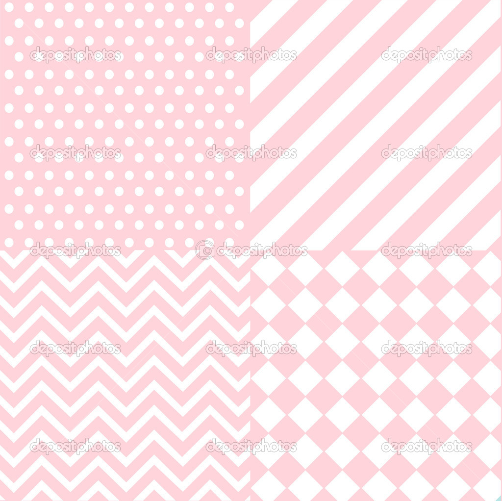 Seamless Baby Girl Pattern Wallpaper Stock Vector