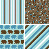 Photo Seamless patterns with fabric texture