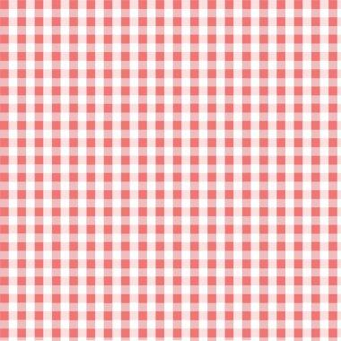 Seamless pink plaid pattern