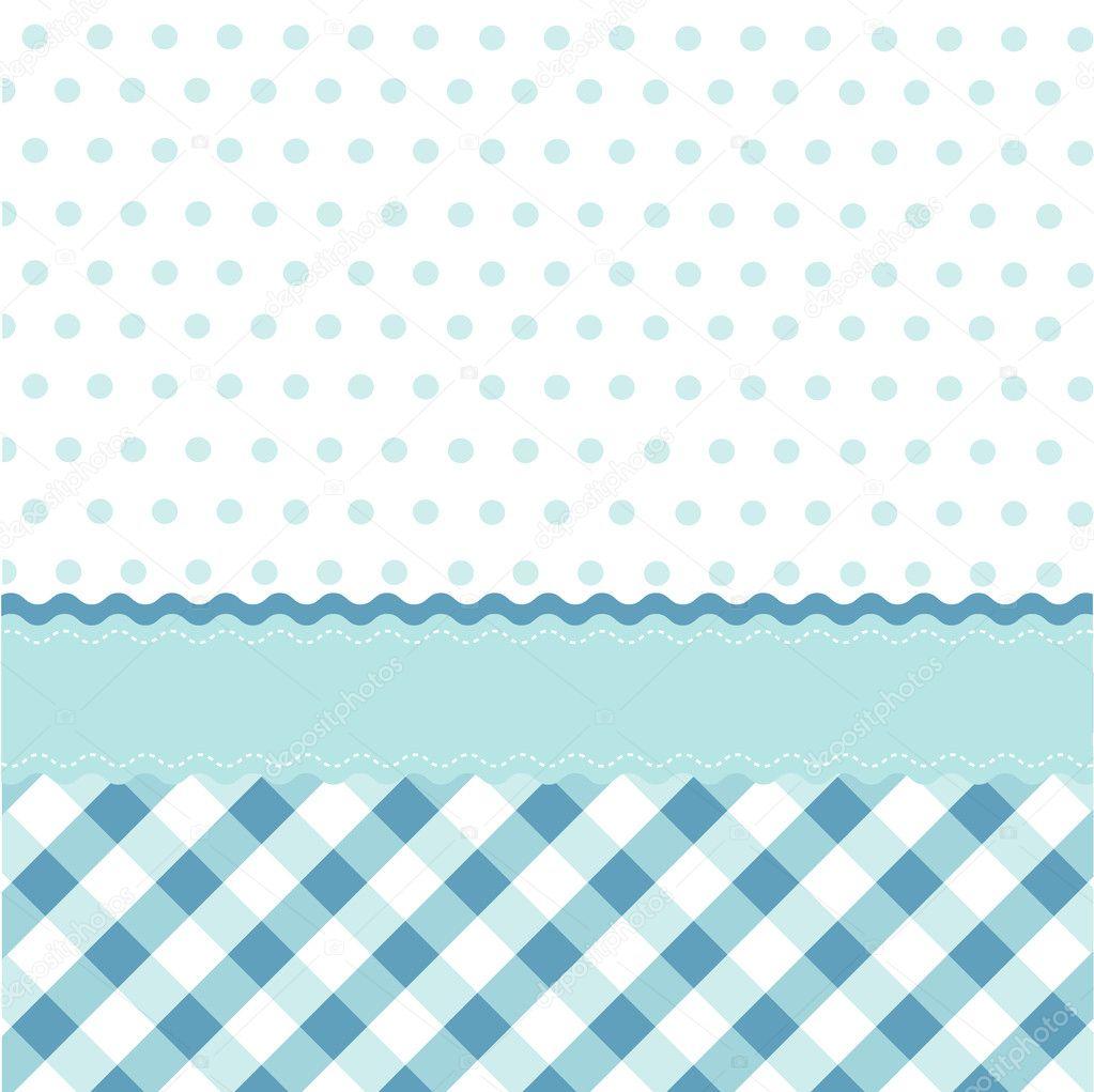 Nahtlose baby blau muster tapete stockvektor 9620274 for Tapete muster blau