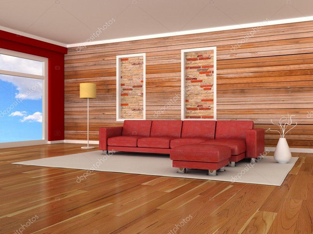 Int rieur de chambre moderne cloison en bois canap for Cloison en bois interieur