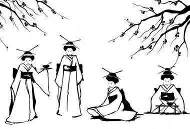 Geisha and sakura.