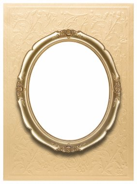 Oval photo frames (Clipping path!)