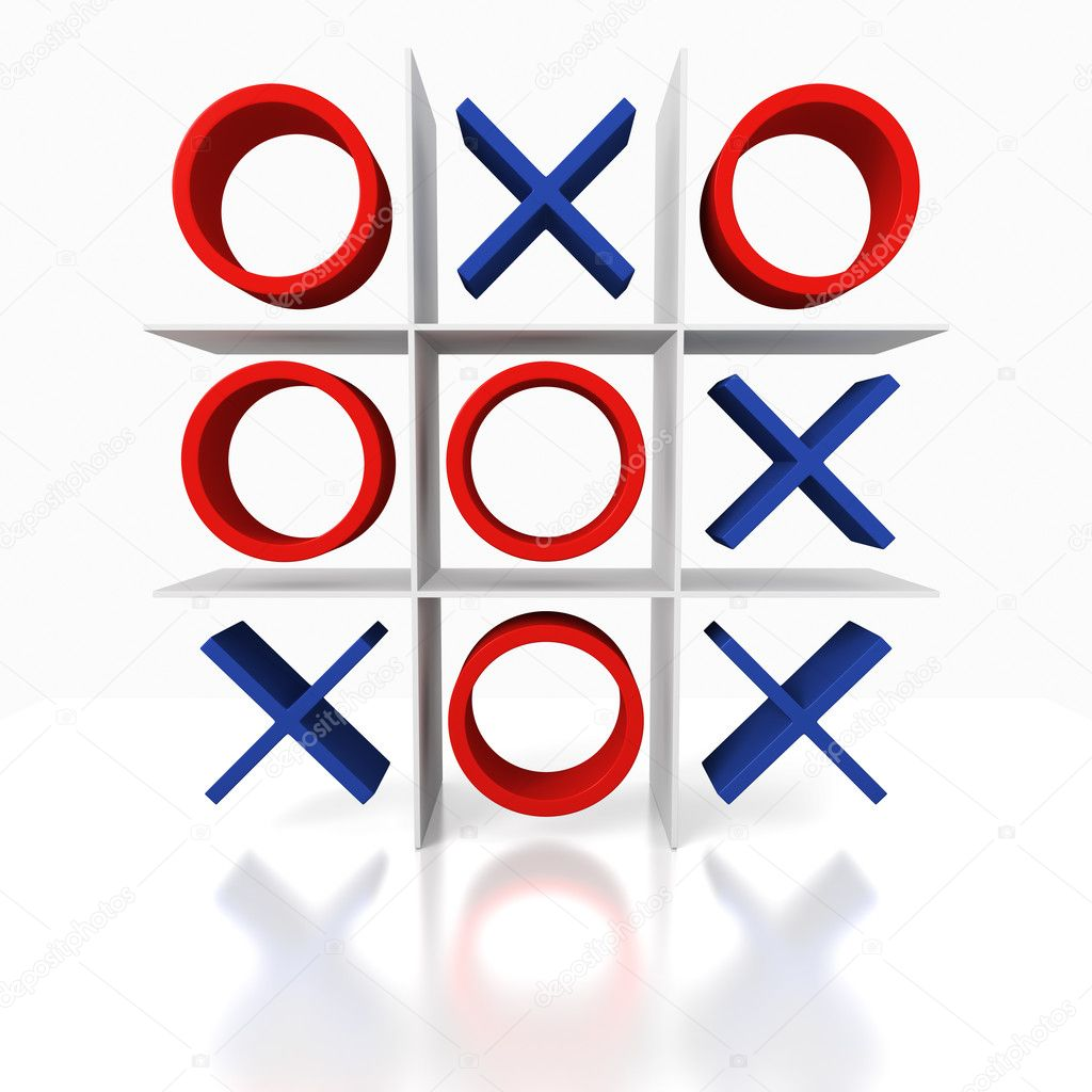 Tick Tack Toe on a white background