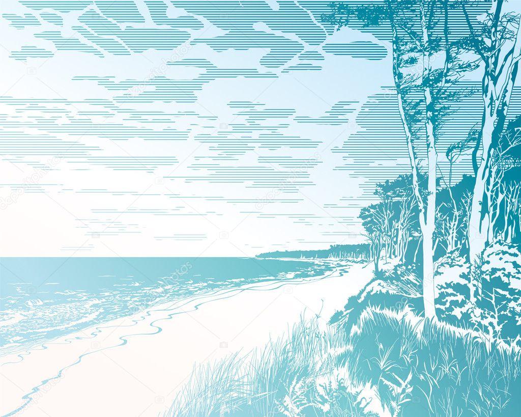 Seaside at Baltic Sea