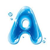 Fotografia capitale di serie - lettera di acqua liquida - ABC un