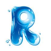 Fotografia ABC serie - lettera di acqua liquida - capitale r