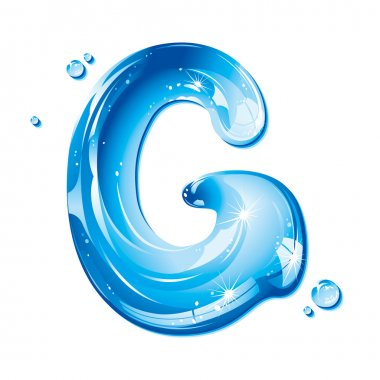 ABC series - Water Liquid Letter - Capital G