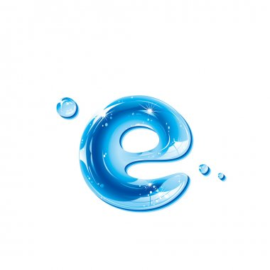 ABC series - Water Liquid Letter - Small Letter e
