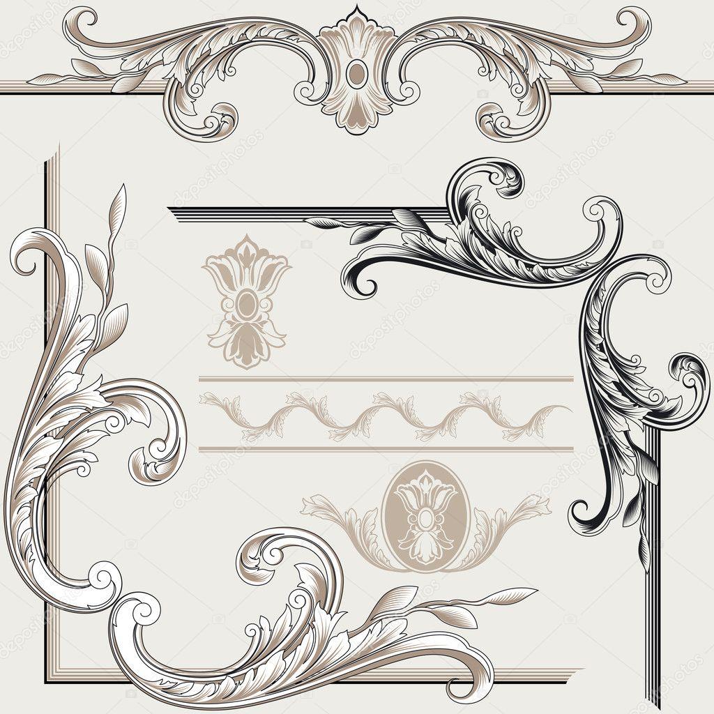 Set of Classic Decor Elements