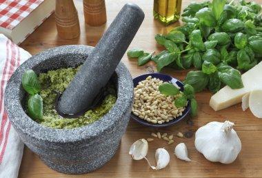 Making Pesto!
